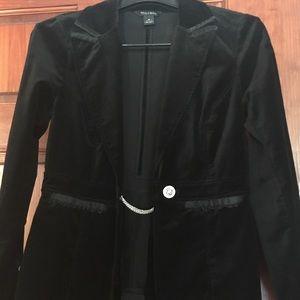 White House Black Market Velour blazer.